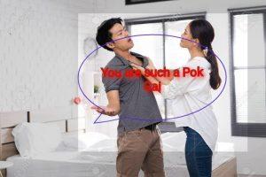 Lady shouting Pok gai at man, meaning of Pok gai, pronunciation